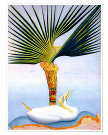 Póster palm tree and bird