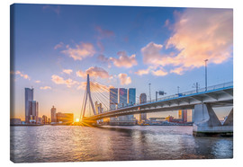 Lienzo  Rotterdam The Erasmus Bridge - Remco Gielen