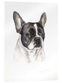 Cuadro de metacrilato  French bulldog, black-white - Lisa May Painting