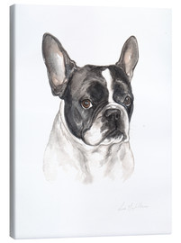 Lienzo  French bulldog, black-white - Lisa May Painting