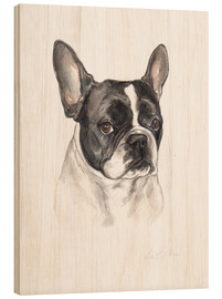 Madera  French bulldog, black-white - Lisa May Painting