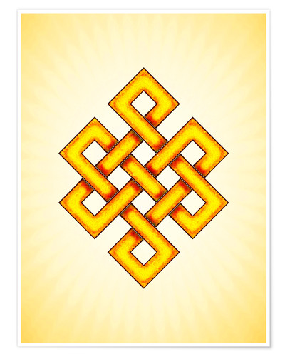 Póster Endless Knot - Artwork Yellow