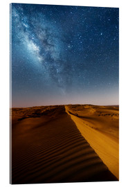 Cuadro de metacrilato  Milky way over dunes, Oman - Matteo Colombo