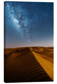 Lienzo  Milky way over dunes, Oman - Matteo Colombo