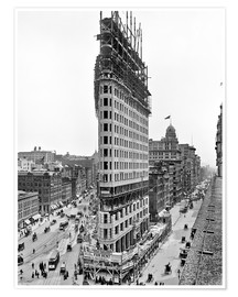 Póster New York City 1903, Flatiron Building under construction