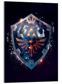 Cuadro de metacrilato  Epic Shield of Hyrule - Barrett Biggers