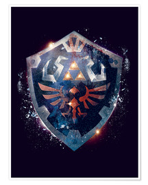 Póster  Epic Shield of Hyrule - Barrett Biggers