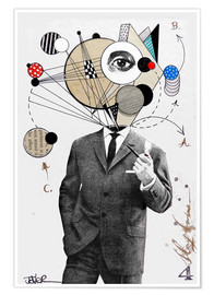 Póster  the thinking man - Loui Jover