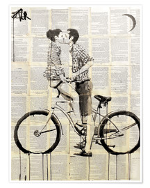 Póster  love cycle - Loui Jover