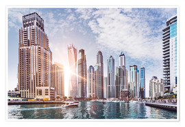 Póster Sunset at Dubai Marina