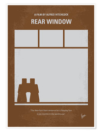 Póster  No238 My Rear window minimal movie poster - chungkong