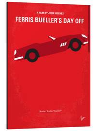 Aluminio-Dibond  No292 My Ferris Bueller's day off minimal movie poster - chungkong