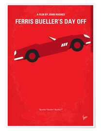 Póster  No292 My Ferris Bueller's day off minimal movie poster - chungkong