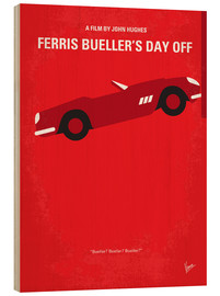 Madera  No292 My Ferris Bueller's day off minimal movie poster - chungkong
