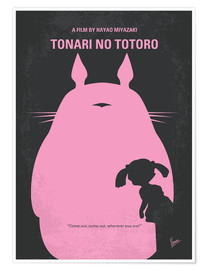 Póster  No290 My My Neighbor Totoro minimal movie poster - chungkong