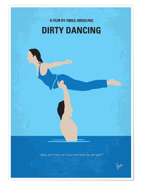 Póster  No298 My Dirty Dancing minimal movie poster - chungkong