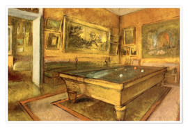 Edgar Degas - Billiard Room at Menil Hubert