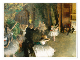 Póster The Rehearsal of the Ballet Onstage