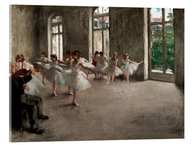 Metacrilato  The Rehearsal - Edgar Degas