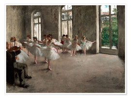 Póster  The Rehearsal - Edgar Degas
