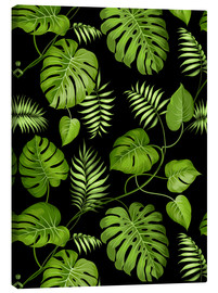 Lienzo  Monstera with palms