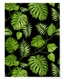Póster Monstera with palms