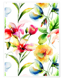 Póster  Wildflowers in Watercolor