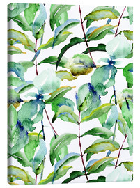 Lienzo  Leaves in Watercolor