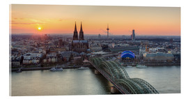 Cuadro de metacrilato  Panorama view of Cologne at sunset - Michael Valjak