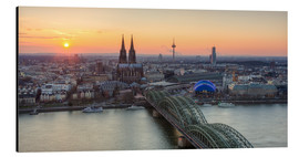 Cuadro de aluminio  Panorama view of Cologne at sunset - Michael Valjak