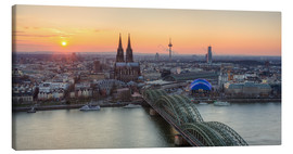 Lienzo  Panorama view of Cologne at sunset - Michael Valjak