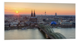 Cuadro de PVC  Panorama view of Cologne at sunset - Michael Valjak