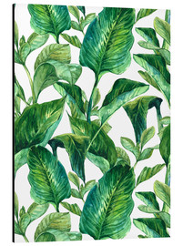 Aluminio-Dibond  Tropical Leaves in Watercolor