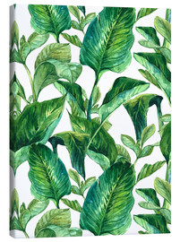 Lienzo  Tropical Leaves in Watercolor