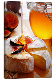 Lienzo  Brie Cheese and Figs with honey - Johan Swanepoel