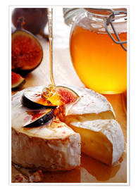 Póster Brie Cheese and Figs with honey