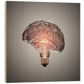 Madera  Conceptual light bulb brain illustrated - Johan Swanepoel