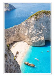 Póster Shipwreck beach on Zakynthos