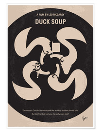 Póster  No370 My Duck Soup minimal movie poster - chungkong
