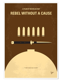 Póster  No318 My Rebel without a cause minimal movie poster - chungkong