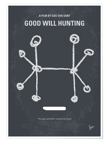 Póster El indomable Will Hunting