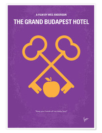 Póster  No347 My The Grand Budapest Hotel minimal movie poster - chungkong