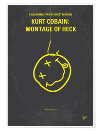 Póster No448 My Montage of Heck minimal movie poster