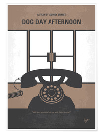 Póster No479 My Dog Day Afternoon minimal movie poster