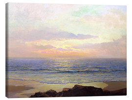 Lienzo  Sunset over the sea. - Frederick Judd Waugh
