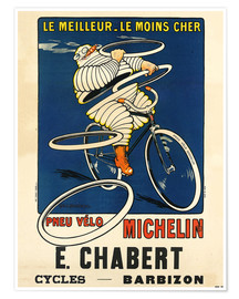 Póster Bicycle tires Michelin