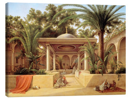 Lienzo  The Kabanija Fountain in Cairo - Grigory Tchernezov