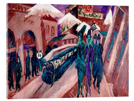 Cuadro de metacrilato  Leipziger Strasse with electric train - Ernst Ludwig Kirchner