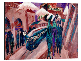 Cuadro de aluminio  Leipziger Strasse with electric train - Ernst Ludwig Kirchner