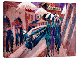 Lienzo  Leipziger Strasse with electric train - Ernst Ludwig Kirchner